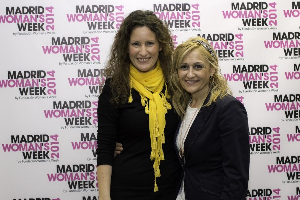 May López junto con Carmen M. García, directora de MWW, durante la IV Semana Internacional de la Mujer.