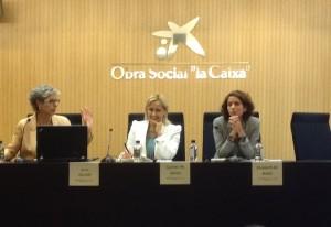Anna Mercadé, Carmen Mª García y Elisabeth de Nadal.
