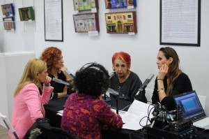 Pilar Jurado, Amaya Valdemoro, Rosa María Calaf, Carmen M. García y Marta Gómez durante la emisión en directo.