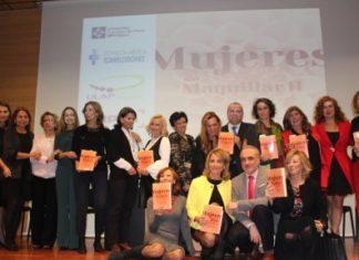 Las autoras del libro posaron junto a Salvador Molina y Juanma Romero al finalizar la presentación del libro.