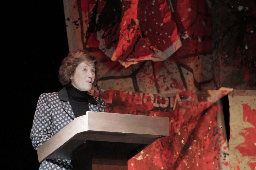 Julia Navarro, durante la presentación de Hombres sin Afeitar.