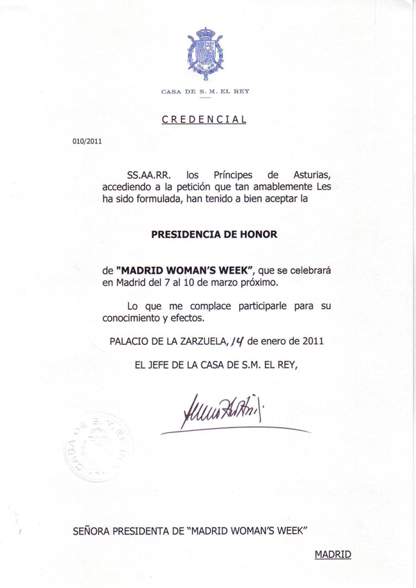 Presidencia de Honor de Madrid Woman's Week